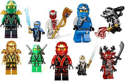 10 Lego Ninjago Vinyl Wall Stickers 3 Sizes A6 A5 A4