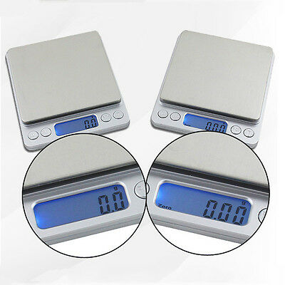 0.01-500G/0.1-2KG Electronic Scales Gold Jewellery Weighing Kitchen Scales +AAA