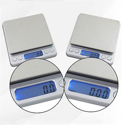 Electronic Scales Gold Jewellery Weighing Kitchen Scales +AAA 0.01-500G/0.1-2KG