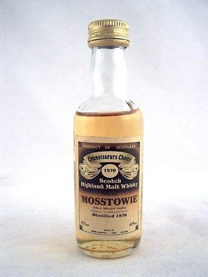 Miniature dated 1970 MOSSTOWIE Malt Whisky Isle of Wine