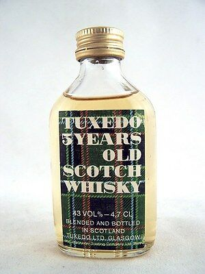 Miniature @ 1977 TUXEDO 5YO Scotch Whisky Isle of Wine