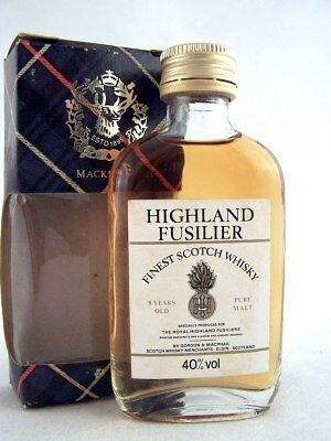 Miniature @ 1969 HIGHLAND FUSILIER 8YO Malt Whisky Isle of Wine