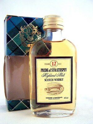 Miniature circa 1973 PRIDE OF STRATHSPEY 12YO Malt Whisky Isle of Wine