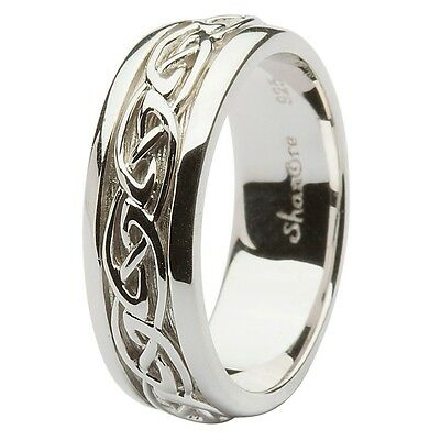 Shanore Sterling Silver Celtic Knot Wedding Ring Various Sizes  10.5, 11 or 13