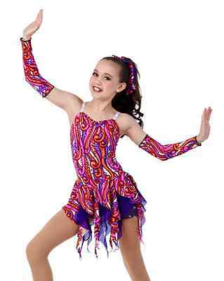Under The Sea Dance Costume Unitard w/Headpiece & Mitts Clearance CXS,AL,AXL,XXL