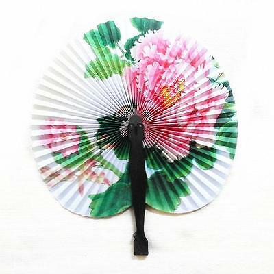Vintage Chinese Classic Folding Small Round Paper Fan Home Decor Children Toy