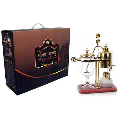 Belgium Luxury Royal Family Siphon/Syphon Balance Coffee Maker Golden GY-G-3