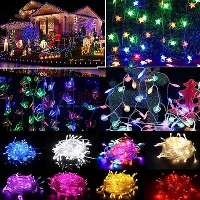 20/50/100 LED String Fairy Lights Indoor/Outdoor Xmas Christmas Garden Party