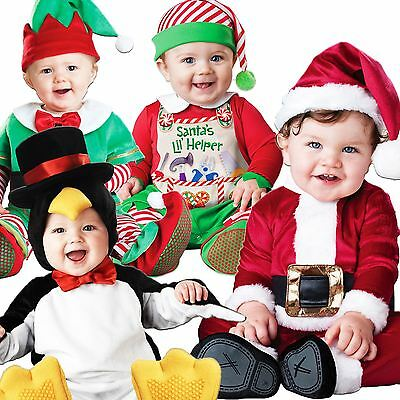 Baby Babies Toddler Christmas Xmas Santa Elf Babygrow Fancy Dress Outfit Costume