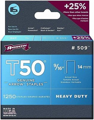 Arrow 509 3 Pack 9/16in. T50 1250 pc. Staple