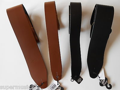 "Uk Made 2"" & 3"" Wide Real Leather Electric Or Acoustic Adjustable Guitar Strap"