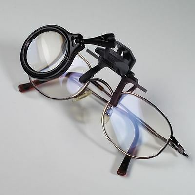 CLIP-ON LENS MAGNIFIER 5x MAGNIFICATION FITS ALL GLASSES - 30mm DIAMETER LENS
