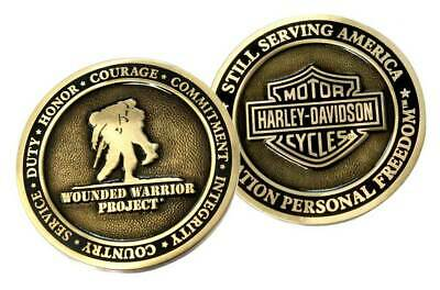 Harley-Davidson Bar & Shield Wounded Warrior Project Challenge Coin 8003425
