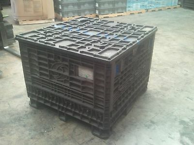 Pallet Box Storage Container Automotive Bin Collapsible With Lid Trade Show