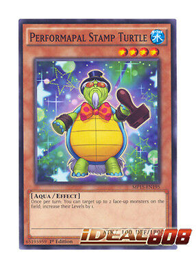 SECE-EN005  1st Edition   Common  NM//Mint Yu-Gi-Oh x3 Performapal Stamp Turtle