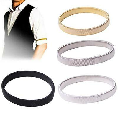 1x Anti-slip Metal Shirt Long Sleeve Holder Arm Band Stretch Garter Elastic - LD