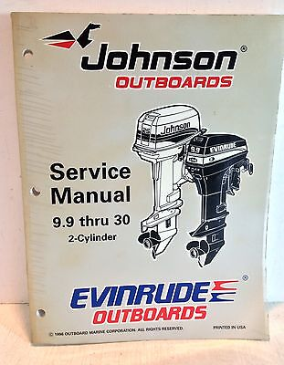 "Johnson Evinrude Outboards OMC ""EU"" 9.9 thru 30 Service Manual 2-Cyl 507263(2773"