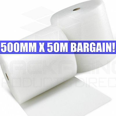 50 METRES ROLL SMALL BUBBLE WRAP 500mm x 50m DEAL