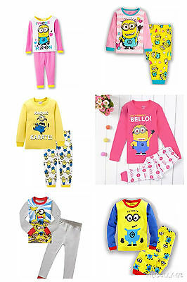 Minion MINIONS Pyjama Set Pyjamas PJs Nightwear NEW Sizes 2 3 4 5 6 7 BOYS GIRLS