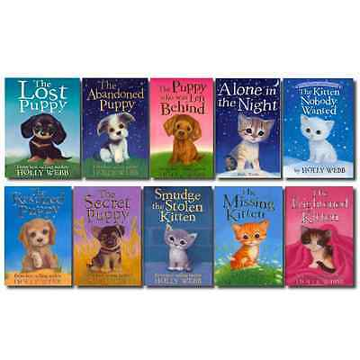 Holly Webb Animal Stories Puppy and Kitten Rescue Series 10 Books Set 11 to 20
