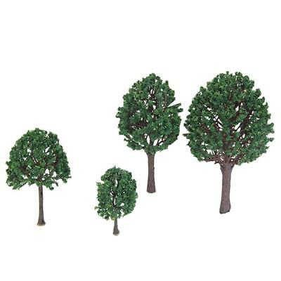"4pc Garden Building Set Model Tree Gauge O 3.54"" -7.1"""