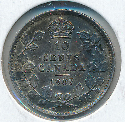 Canada 10 Cents 1907 - VF