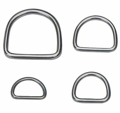 4 x D Rings ~ WELDED STAINLESS STEEL Buckles ~ Webbing Leathercraft ~ HEAVY DUTY