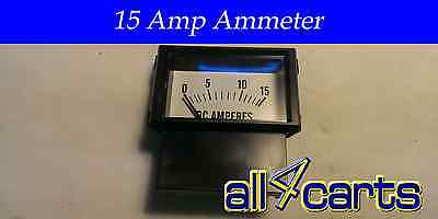 Club Car Powerdrive 2 Charger Ammeter | Meter Golf Cart Charger 15 Amp 2000 up