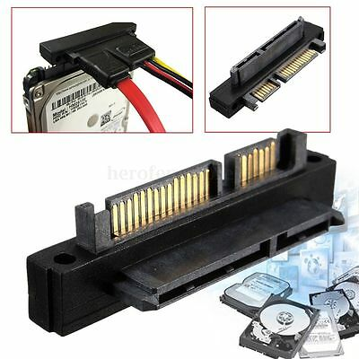90 Degree SATA 22 Pin Male To Female Extension Adapter For HDD Hard Disk Drive