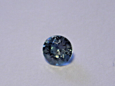 Zircon Gemstone Blue Round Brilliant Cut 4 mm 0.33 carat Gem Blue Natural