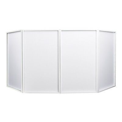 Equinox Foldable DJ Screen White Facade Booth Surround Front Disco inc Carry Bag