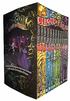 The Saga of Darren Shan 12 Books Collection Set Cirque du Freak Children Pack
