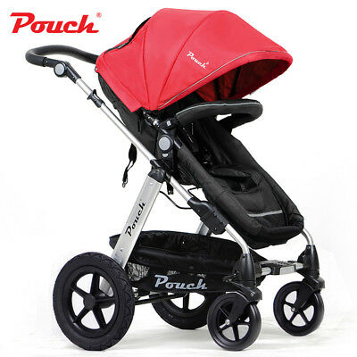 NEW 2 IN 1 BABY TODDLER PRAM STROLLER JOGGER ALUMINIUM WITH BASSINET - 2 Colors