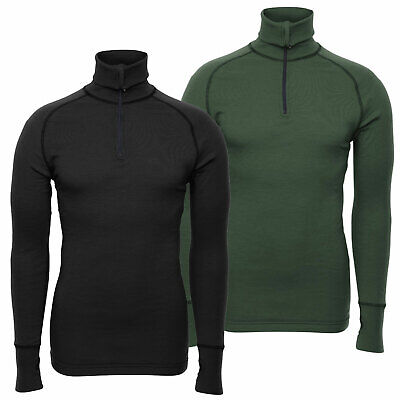 Brynje Arctic Double Layered 1/4 Zip Polo Neck Thermal Cold Weather Under Shirt