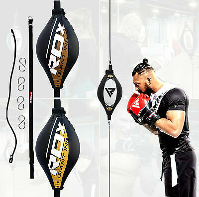RDX Speedball Boxen Punchingball Leder Boxbirne Doppelendball Double End Hak DE