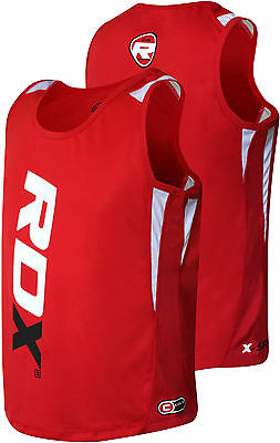 RDX Gym Vest Mens Top BodyBuilding Boxing Tank T Shirt Stringer Fitness Running