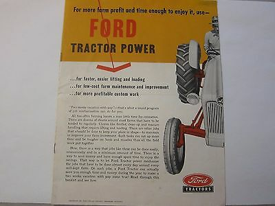 Original 1955 Ford Tractor & Equipment Brochure LOTS More Listed