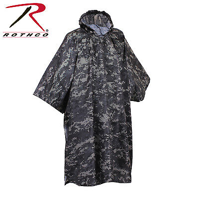 Rothco 4646 G.I. Type Military Rip-Stop Poncho - Subdued Urban Digital Camo