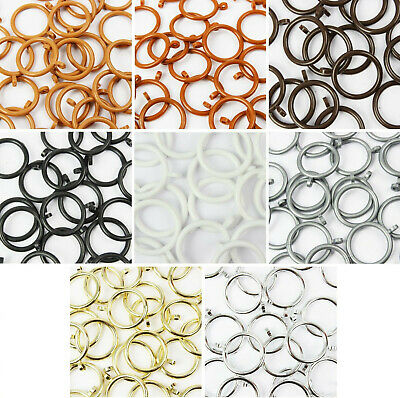 Plastic Curtain Rings for 19mm to 25mm Poles 8 Colours Many Discount Pack Sizes