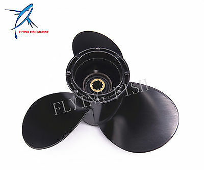 9 1/4x8 Outboard Aluminum Alloy Propeller for Suzuki 9.9HP 15HP Boat 9 1/4 x 8