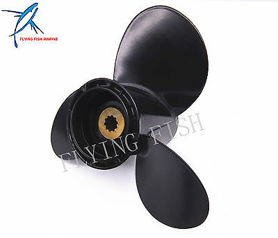 9 1/4x9 Outboard Aluminum Alloy Propeller for Suzuki 9.9HP 15HP Motor 9 1/4 x 9