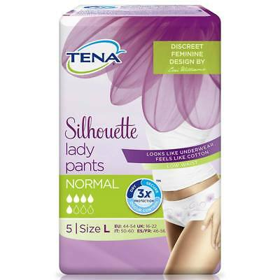 TENA Lady Pants Discreet - Large 750ml (95-125cm/37-49in) Pack of 5