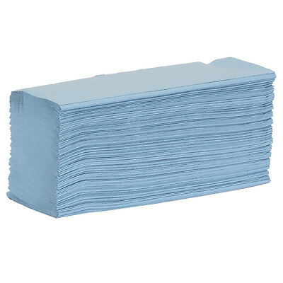 Esfina Blue Embossed Z Fold Paper Hand Towel - Case Of 3000