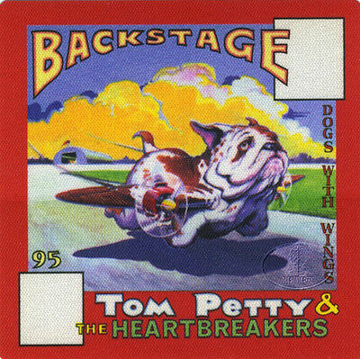 TOM PETTY 1995 Dogs With Wings Tour Backstage Pass Aa