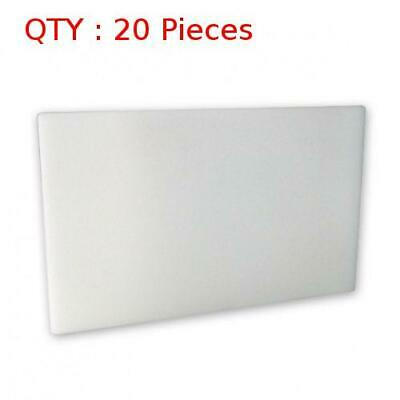 20 New Premium Heavy Duty Plastic White Pe Cutting / Chopping Board 610X915X25mm