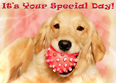Golden Retriever Puppy Dog Greeting Cards (PACK OF 5)