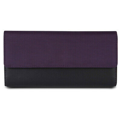 Travelon SafeID Accent Flap Clutch Wallet, Purple