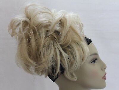 New Comb-Clip-in Synthetic Hairpiece Bun Scrunchies Pony Straight Updo wig curly
