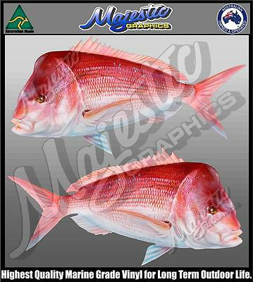 GREAT WHITE SHARKS MIRRORED PAIR 650mm x 350mm X 2 BOAT DECALS