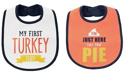 NEW Carter's Boys or Girls 1st Thanksgiving Turkey Day Bib Here for the Pie